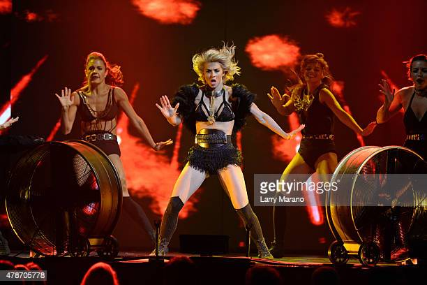 Julianne Hough performs during Move Live on Tour at Hard Rock Live held at the Seminole Hard Rock Hotel & Casino on June 26, 2015 in Hollywood,...