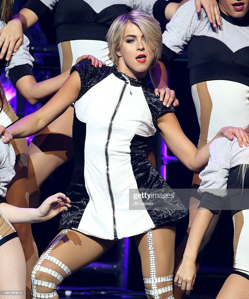 Julianne Hough performs during 'Move Live on Tour' concert on July 26, 2014 at the Orpheum Theatre in Los Angeles, California.