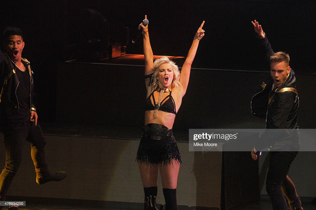 Julianne Hough performs on the 2015 Move Live Tour at Comerica Theatre on June 12, 2015 in Phoenix, Arizona.