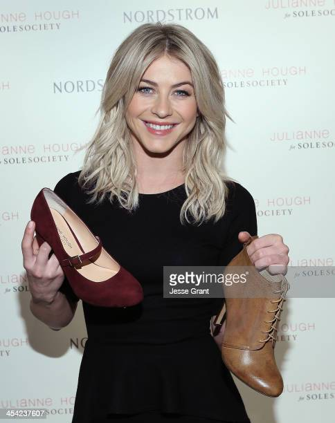 Julianne Hough presents the Julianne Hough for Sole Society collection at Nordstrom at The Americana at Brand on December 7 2013 in Glendale...