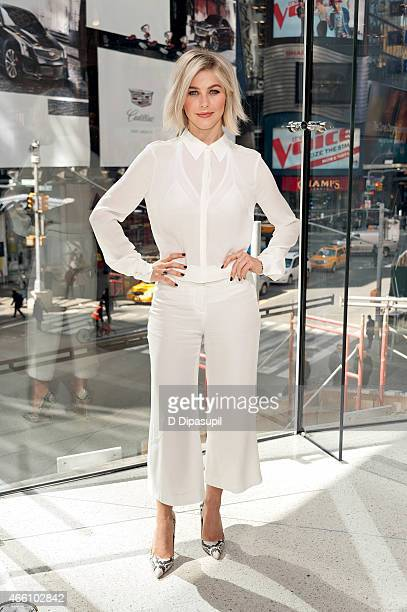 """Julianne Hough visits """"Extra"""" at their New York studios at H&M in Times Square on March 13, 2015 in New York City."""