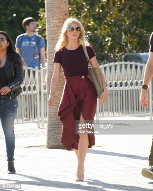 Julianne Hough visits Extra at Universal Studios Hollywood on March 7 2017 in Universal City California
