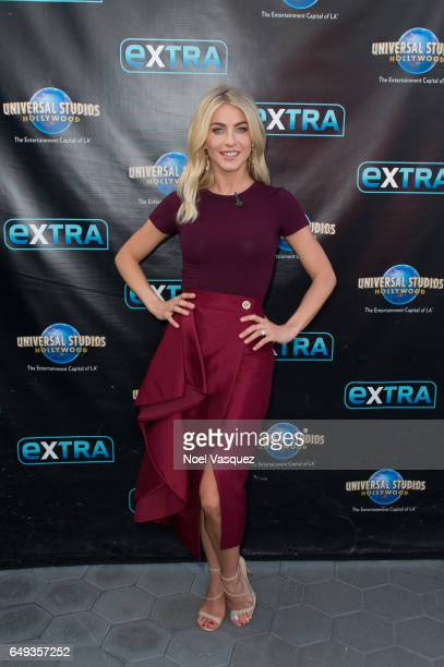Julianne Hough visits 'Extra' at Universal Studios Hollywood on March 7 2017 in Universal City California