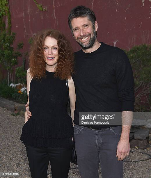 Julianne Moore and Bart Freundlich attend the Original Music Workshop Spring Gala 2015at Pioneer Works on May 7 2015 in New York City