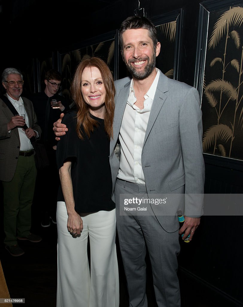 Julianne Moore and Bart Freundlich attend the 'Wolves' after party during 2016 Tribeca Film Festival at No. 8 on April 15, 2016 in New York City.