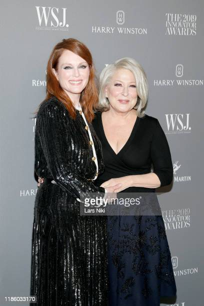 Julianne Moore and Bette Midler attend the WSJ Magazine 2019 Innovator Awards sponsored by Harry Winston and Rémy Martin at MOMA on November 06 2019...