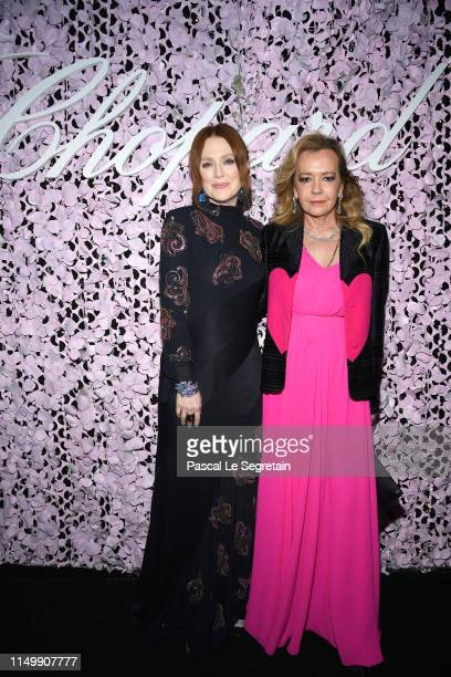 Julianne Moore and Caroline Scheufele attend the Chopard Love Night dinner on May 17 2019 in Cannes France