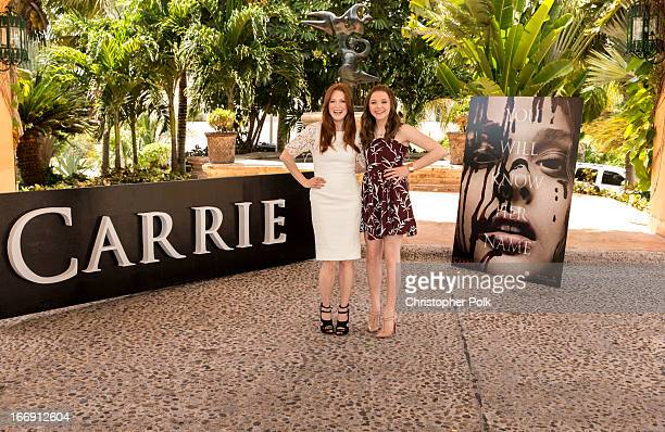 Julianne Moore and Chloe Grace Moretz attend the Carrie Photo Call at The 5th Annual Summer Of Sony at the Ritz Carlton Hotel on April 18 2013 in...
