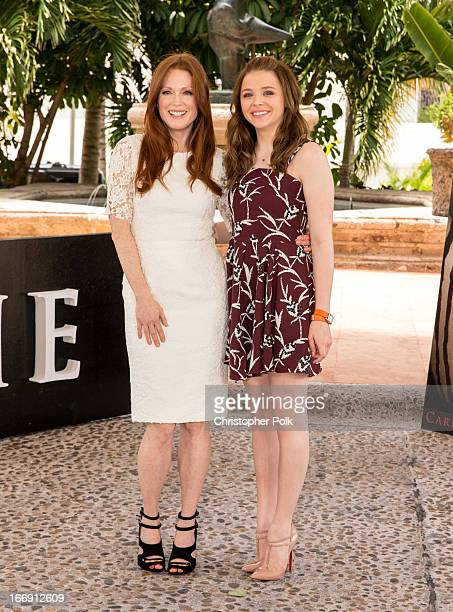 Julianne Moore and Chloe Grace Moretz attend the 'Carrie' Photo Call at The 5th Annual Summer Of Sony at the Ritz Carlton Hotel on April 18 2013 in...