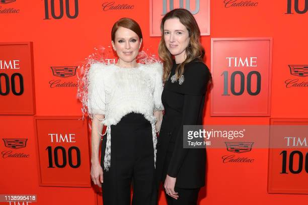 Julianne Moore and Clare Waight Keller attend the 2019 Time 100 Gala at Frederick P Rose Hall Jazz at Lincoln Center on April 23 2019 in New York City