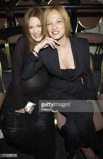"""Julianne Moore and Ellen Barkin during VH1 and Revlon present """"Sheryl Crow and Friends a Benefit for Breast Cancer"""" airing on VH1 April 6th at 9pm at..."""