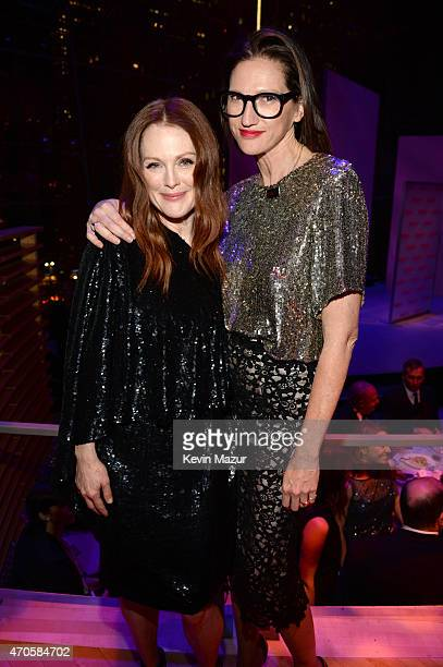 Julianne Moore and Jenna Lyons attend TIME 100 Gala TIME's 100 Most Influential People In The World at Jazz at Lincoln Center on April 21 2015 in New...