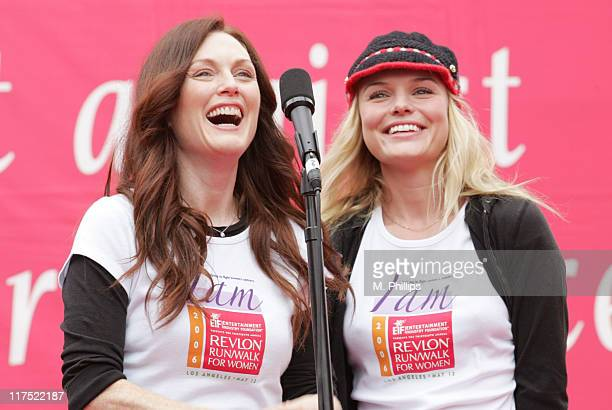 Julianne Moore and Kate Bosworth during The 13th Annual Revlon Run/Walk For Women Los Angeles May 13 2006 at Los Angeles Memorial Coliseum in Los...