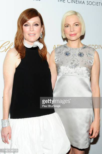 Julianne Moore and Michelle Williams attend Chopard And The Cinema Society Host A Special Screening Of Sony Pictures Classics' After The Wedding on...