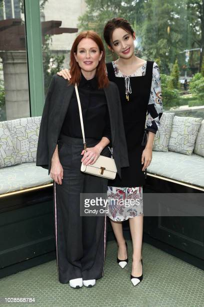 Julianne Moore and Nazha pose backstage during the Tory Burch Spring Summer 2019 Fashion Show at Cooper Hewitt Smithsonian Design Museum on September...