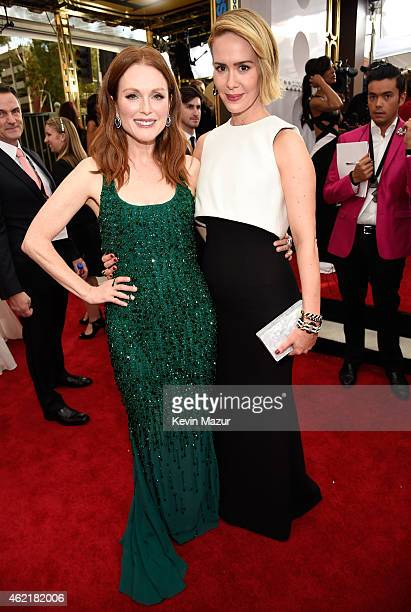 Julianne Moore and Sarah Paulson attend TNT's 21st Annual Screen Actors Guild Awards at The Shrine Auditorium on January 25 2015 in Los Angeles...