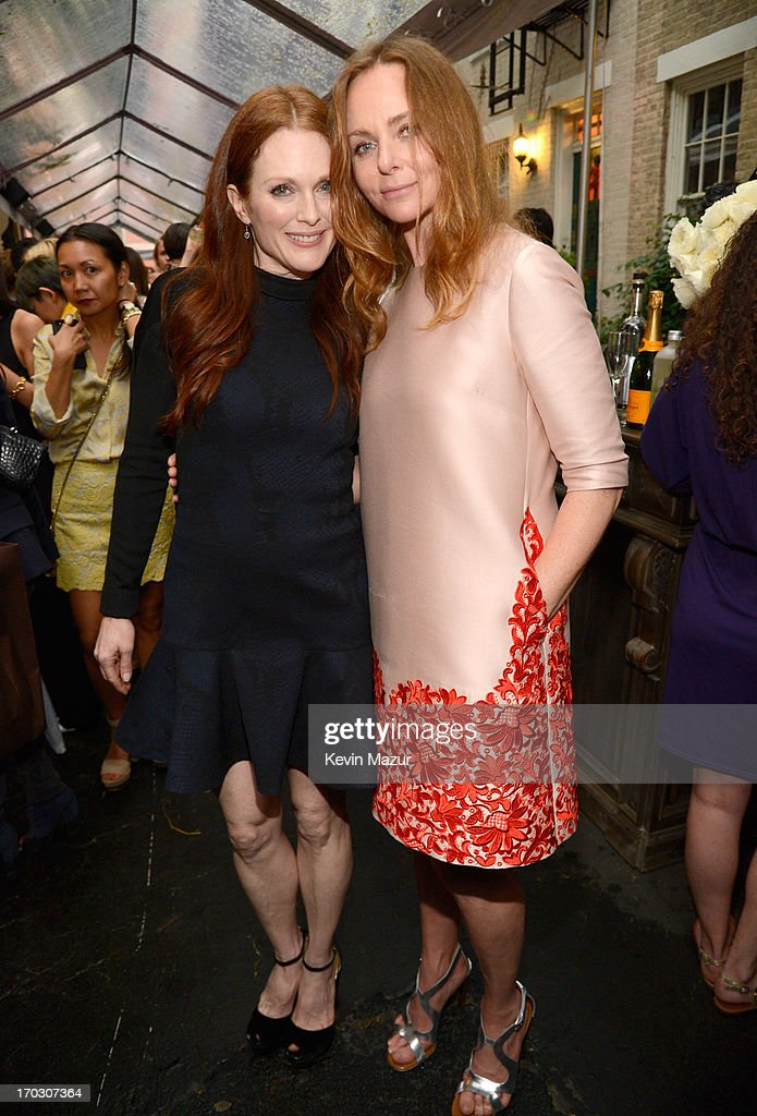 Julianne Moore and Stella McCartney attend the Stella McCartney Spring 2014 Collection Presentation at West 10th Street on June 10, 2013 in New York City.