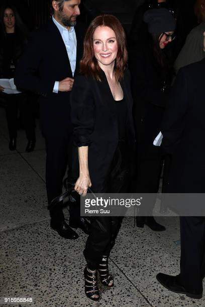 Julianne Moore arrives at the Tom Ford show as part of the New York Fashion Week on February 8 2018 in New York City