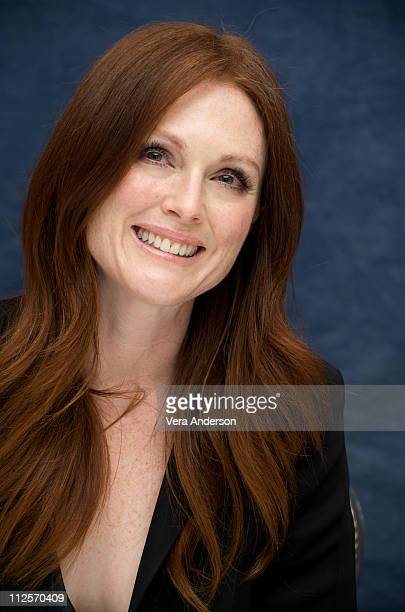 """Julianne Moore at the """"A Single Man"""" press conference at the Waldorf Astoria Hotel on November 15, 2009 in New York City."""
