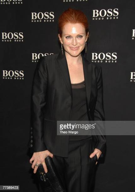 Julianne Moore at the BOSS Black Spring 2008 Fashion Show at the Cunard Building in New York City on October 17, 2007