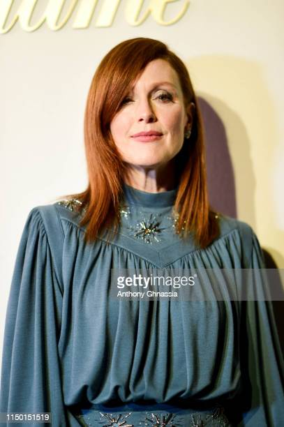 Julianne Moore attends a dinner hosted by Madame Figaro & Louis Vuitton during the 72nd annual Cannes Film Festival at Terrasse Albane on May 18,...