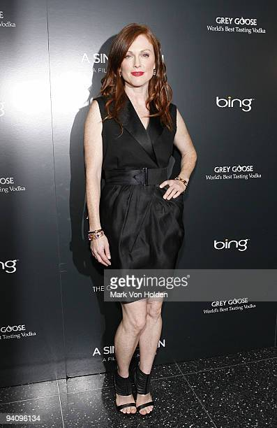 """Julianne Moore attends a screening of """"A Single Man"""" hosted by the Cinema Society and Tom Ford at The Museum of Modern Art on December 6, 2009 in New..."""
