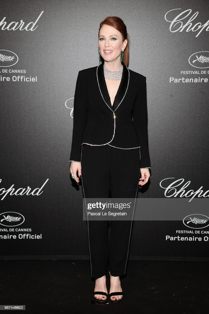 Julianne Moore attends Chopard Secret Night during the 71st annual Cannes Film Festival at Chateau de la Croix des Gardes on May 11, 2018 in Cannes, France.