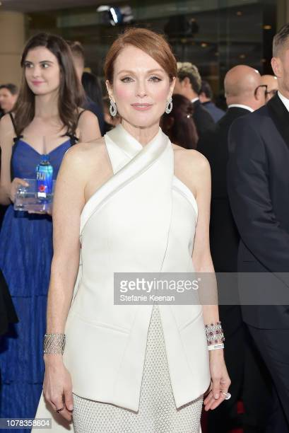 Julianne Moore attends FIJI Water at the 76th Annual Golden Globe Awards on January 6 2019 at the Beverly Hilton in Los Angeles California