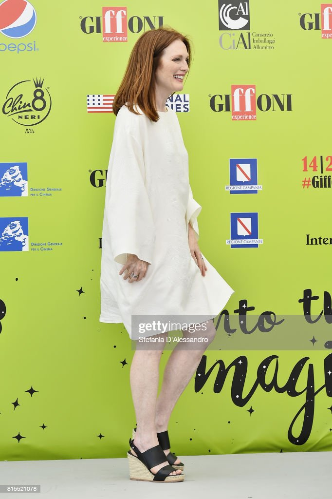 Julianne Moore attends Giffoni Film Festival 2017 Day 3 Photocall on July 16, 2017 in Giffoni Valle Piana, Italy.