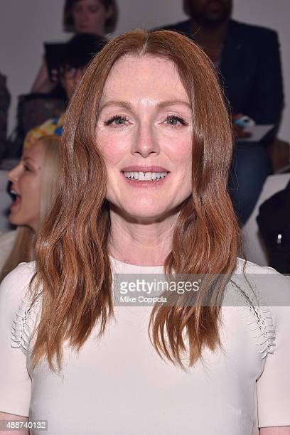 Julianne Moore attends Ralph Lauren Spring 2016 during New York Fashion Week The Shows at Skylight Clarkson Sq on September 17 2015 in New York City