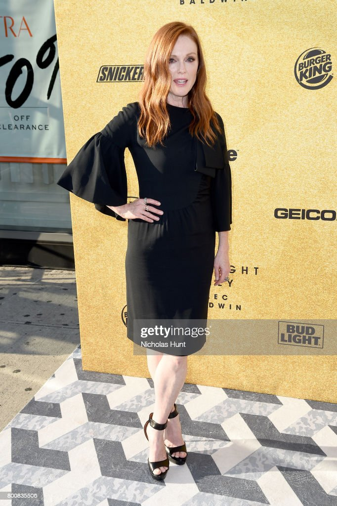 Julianne Moore attends 'Spike's One Night Only: Alec Baldwin' at The Apollo Theater on June 25, 2017 in New York City.