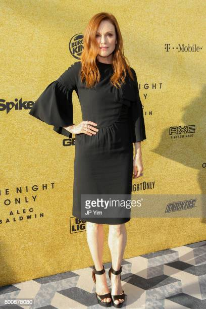Julianne Moore attends 'Spike's One Night Only Alec Baldwin' at The Apollo Theater on June 25 2017 in New York City