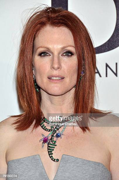 Julianne Moore attends the 150th anniversary of Boucheron January 21 2008 in Paris France