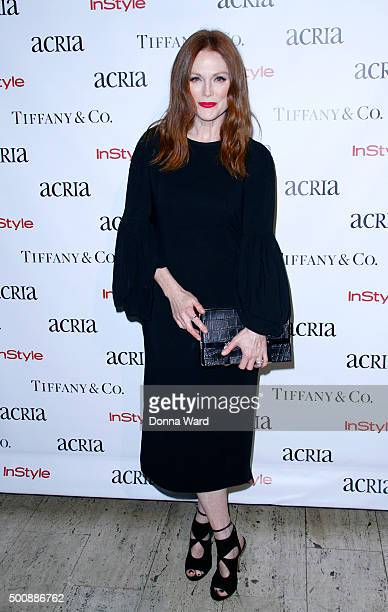 Julianne Moore attends the ACRIA's 20th Anniversary Holiday Dinner at The Cunard Building on December 10 2015 in New York City