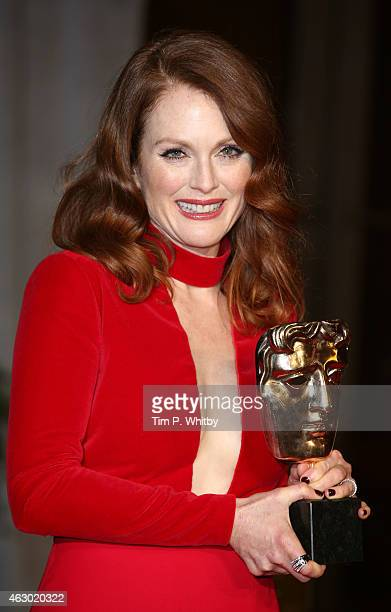 Julianne Moore attends the after party for the EE British Academy Film Awards at The Grosvenor House Hotel on February 8 2015 in London England