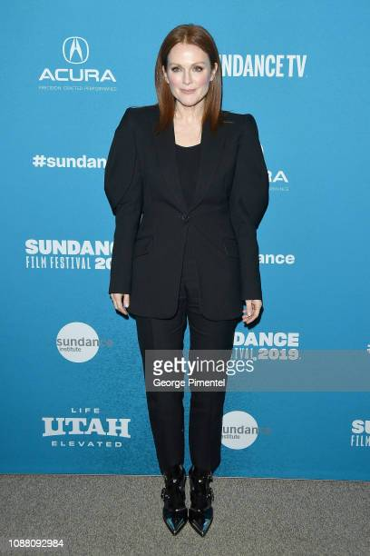 """Julianne Moore attends the """"After the Wedding"""" Premiere during the 2019 Sundance Film Festival at Eccles Center Theatre on January 25, 2019 in Park..."""