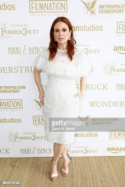 Julianne Moore attends the Amazon Studios official after party for 'Wonderstruck' at the iconic Nikki Beach popup venue during the 70th annual Cannes...