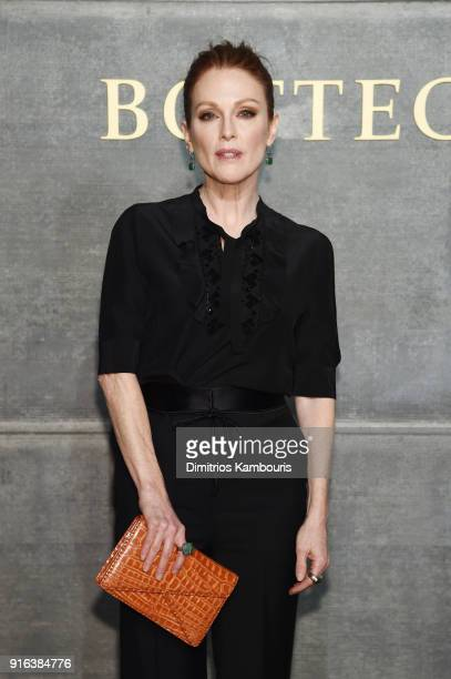 Julianne Moore attends the Bottega Veneta Fall/Winter 2018 fashion show at New York Stock Exchange on February 9 2018 in New York City