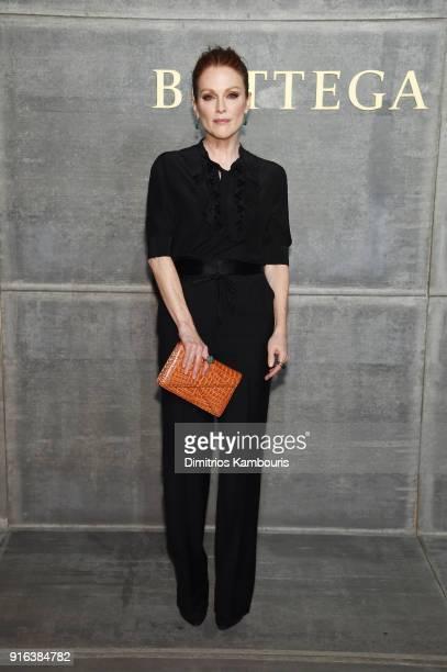 Julianne Moore attends the Bottega Veneta Fall/Winter 2018 fashion show at New York Stock Exchange on February 9 2018 in New York City