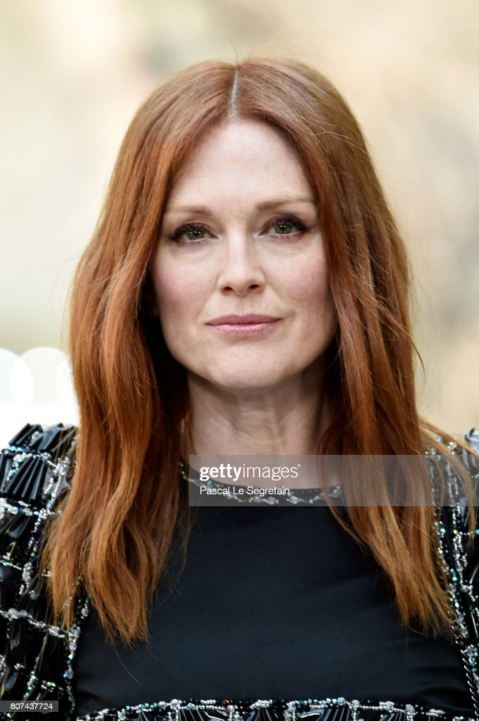 Julianne Moore attends the Chanel Haute Couture Fall/Winter 2017-2018 show as part of Haute Couture Paris Fashion Week on July 4, 2017 in Paris, France.