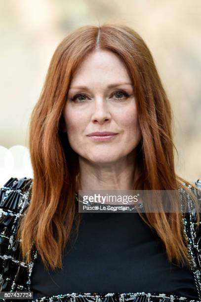 Julianne Moore attends the Chanel Haute Couture Fall/Winter 20172018 show as part of Haute Couture Paris Fashion Week on July 4 2017 in Paris France