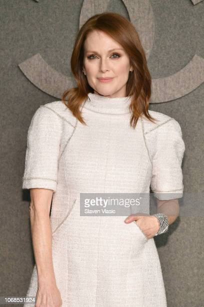 Julianne Moore attends the CHANEL Metiers d'Art 2018/19 Show at The Metropolitan Museum of Art on December 4, 2018 in New York City.