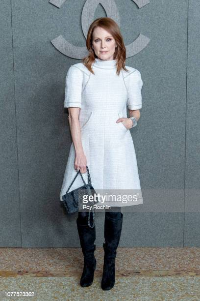 Julianne Moore attends the Chanel Metiers D'Art 2018/19 Show at The Metropolitan Museum of Art on December 04, 2018 in New York City.