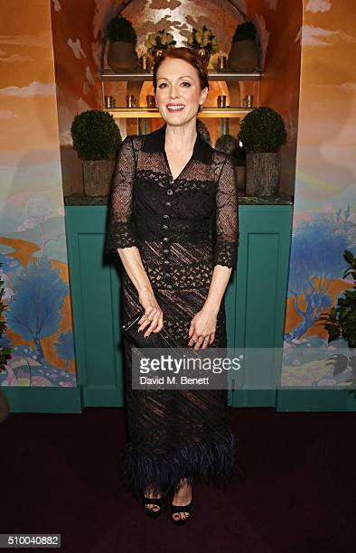 Julianne Moore attends the Charles Finch and Chanel PreBAFTA cocktail party and dinner at Annabel's on February 13 2016 in London England