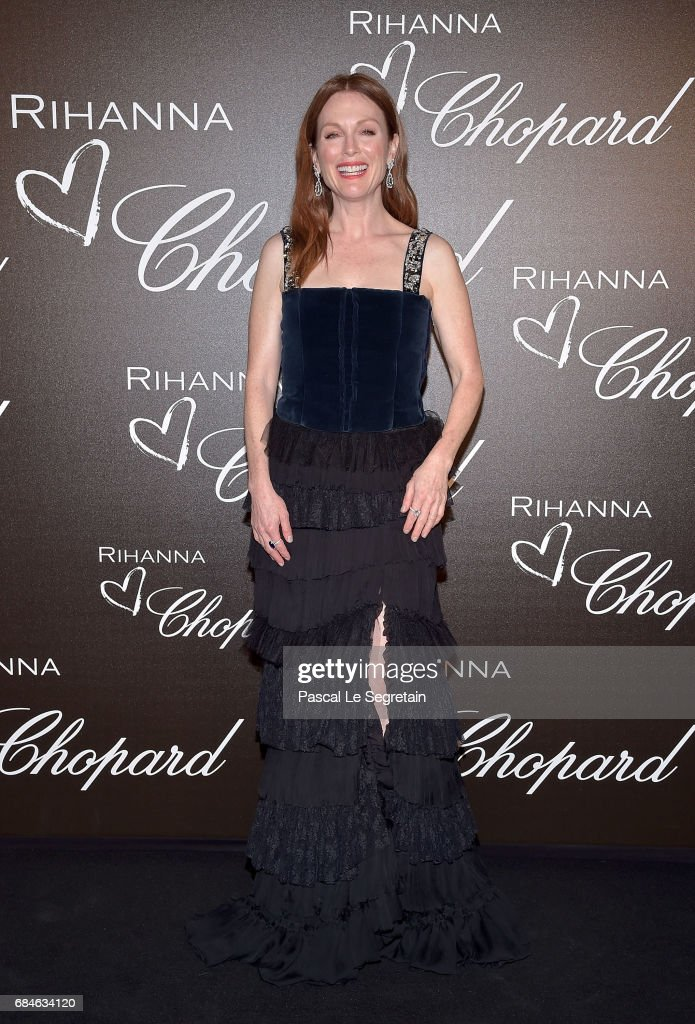 Julianne Moore attends the Chopard dinner in honour of Rihanna and the Rihanna X Chopard Collection during the 70th annual Cannes Film Festival on the Chopard Rooftop on May 18, 2017 in Cannes, France.