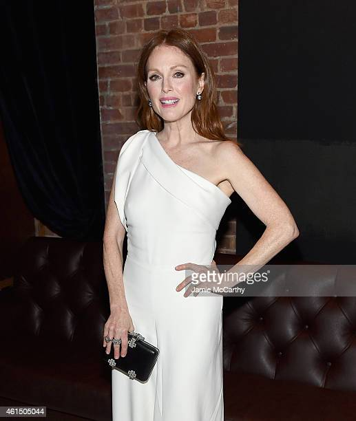 Julianne Moore attends The Cinema Society with Montblanc and Dom Perignon screening of Sony Pictures Classics' Still Alice after party at White...