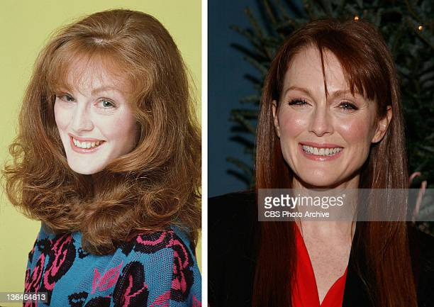In this composite image a comparison has been made of actress Julianne Moore Many of today's leading Hollywood stars began their careers in daytime...