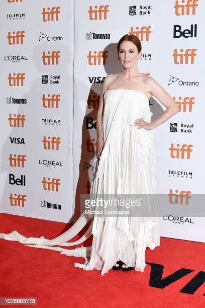 Julianne Moore attends the 'Gloria Bell' premiere during 2018 Toronto International Film Festival at Princess of Wales Theatre on September 7 2018 in...