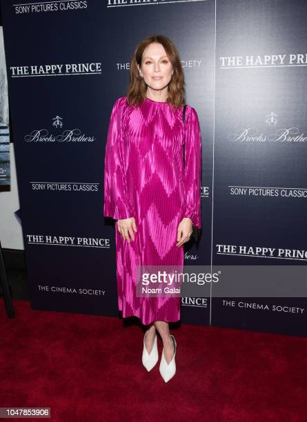 Julianne Moore attends The Happy Prince New York screening at iPic Cinema on October 8 2018 in New York City