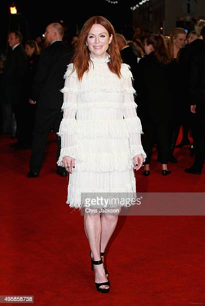 """Julianne Moore attends """"The Hunger Games: Mockingjay Part 2"""" UK Premiere at the Odeon Leicester Square on November 5, 2015 in London, England."""